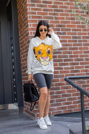 Ecru Leon King Printed Sweatshirt