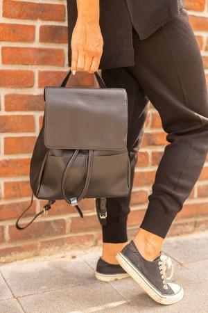 Black Pocket Detailed Backpack