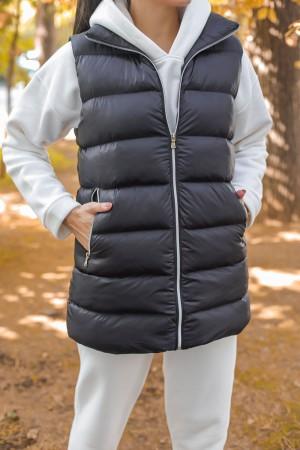 Black Zippered Inflatable Vest