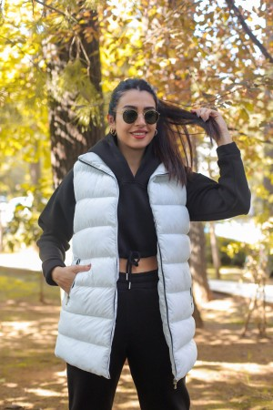 White Zippered Inflatable Vest