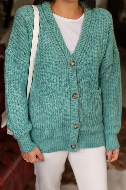 Mint Green Thessaloniki Knitted Cardigan