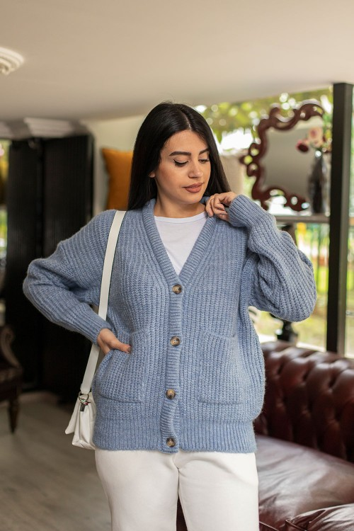 Baby Blue Thessaloniki Knitted Cardigan