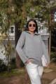 Gray Collar Zipper Detailed Knitwear Sweater