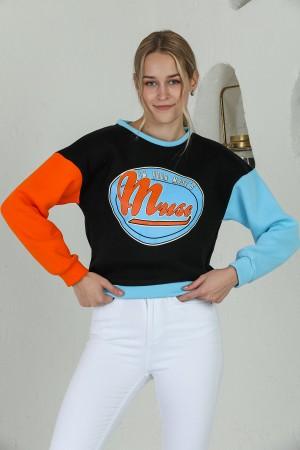 Black Muse Printed Sweatshirt