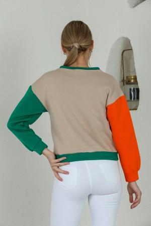 Beige Muse Printed Sweatshirt